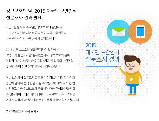 정보보호의 달,2015 대국민 보안인식 설문조사 결과 발표
